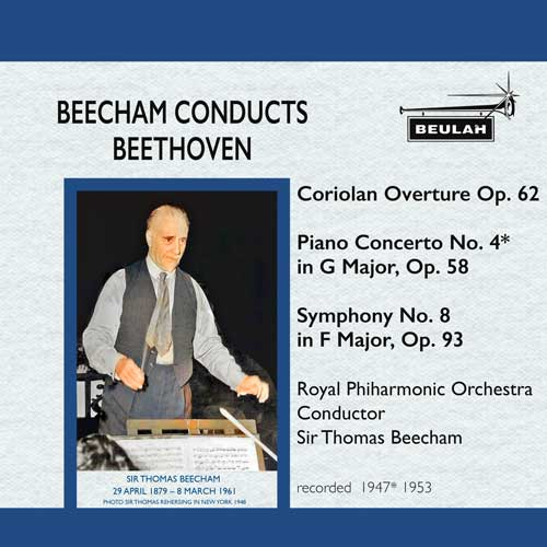 12PDR4 beecham conducts beethoven corolian overture piano concerto 4 symphony number 8