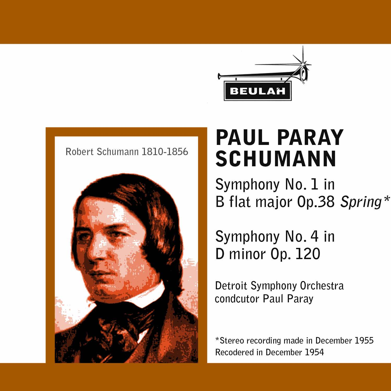 schumann symphonies numbers 1 and 4 paul paray detriot symphony orchestra