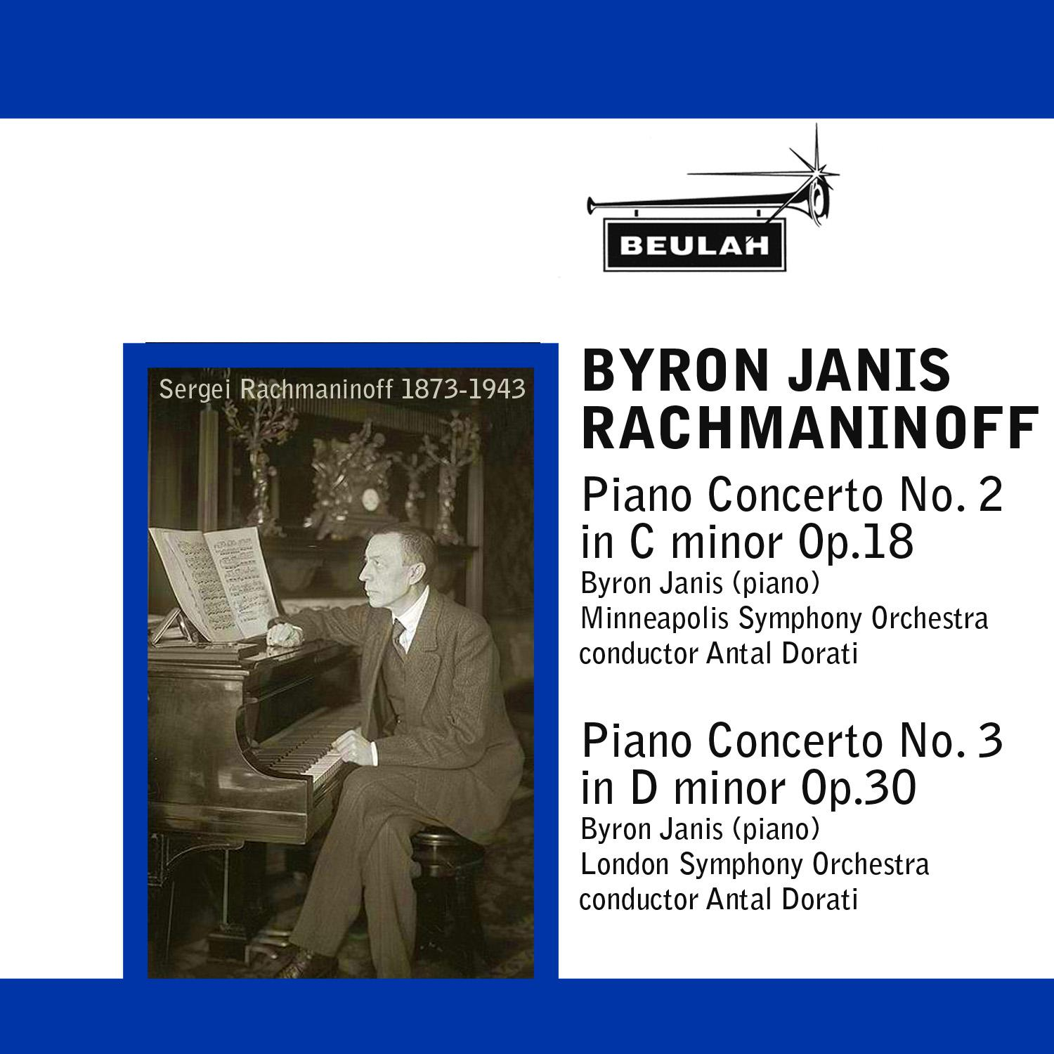 byron janis plays rachmaninoff piano concertos numbers 2 and 3