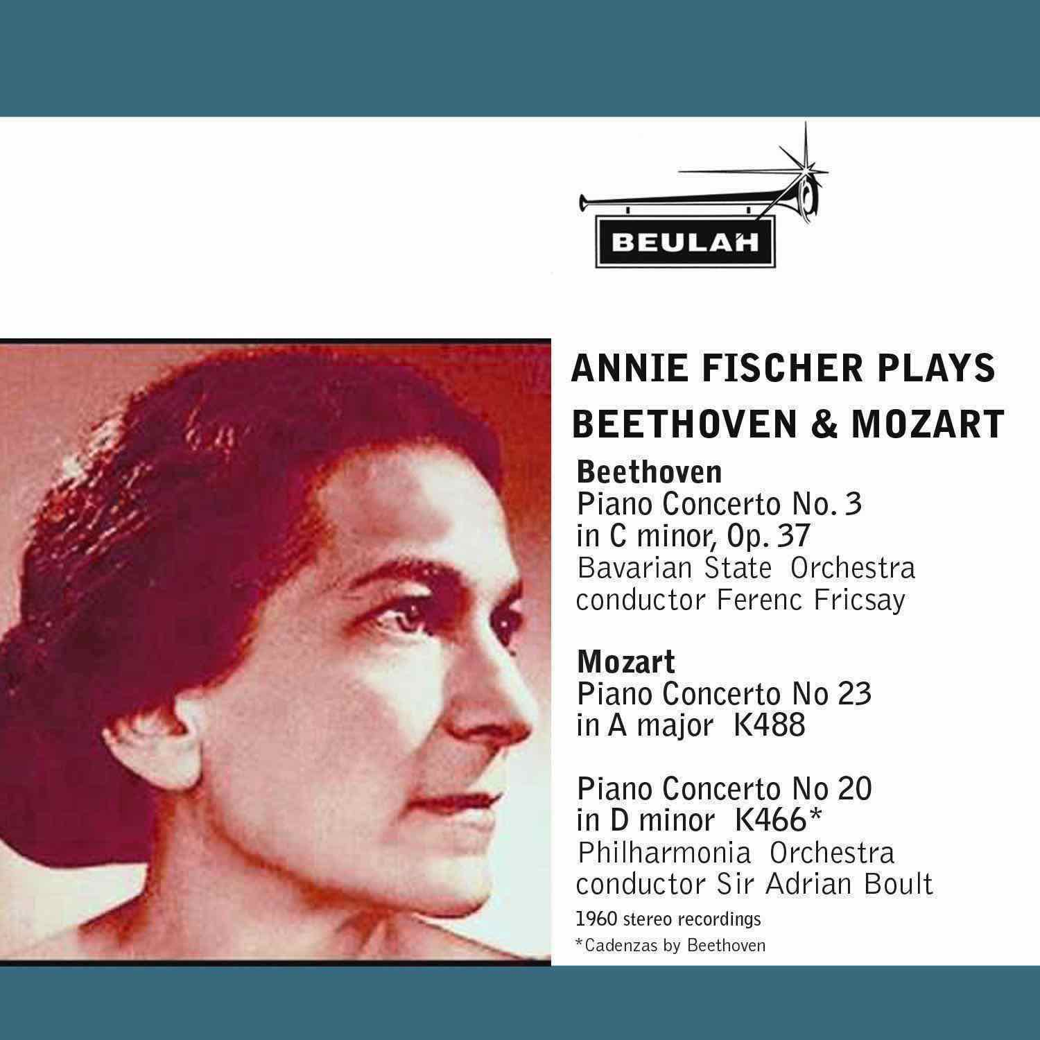 annie fischer plays beethoven and mozart