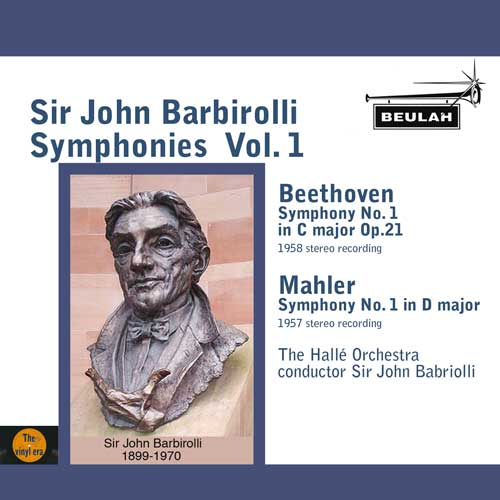 Sir john barbriolli symphonies volume 1 beethoven and mahler symphonies number 1