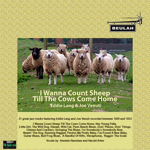 1PS34 I wanna count sheep till the cows come home, eddie lang aND JOE VENUTI