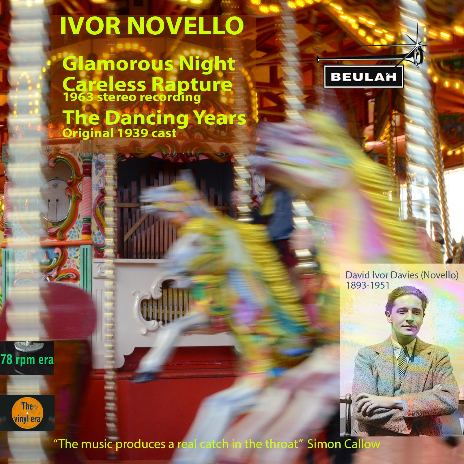 2PDR19 Ivor Novello Galmorous Nights, Carelss Rapture, the Dancing Yrears