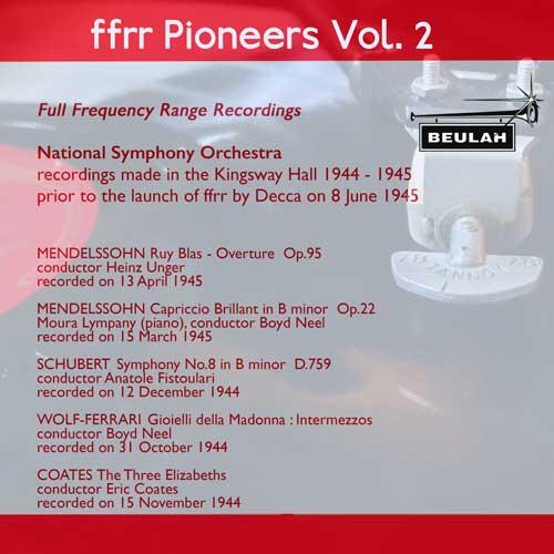 2PS59 ffrr pioneers volume 2 mendelssohn schubert wolf ferrai coates