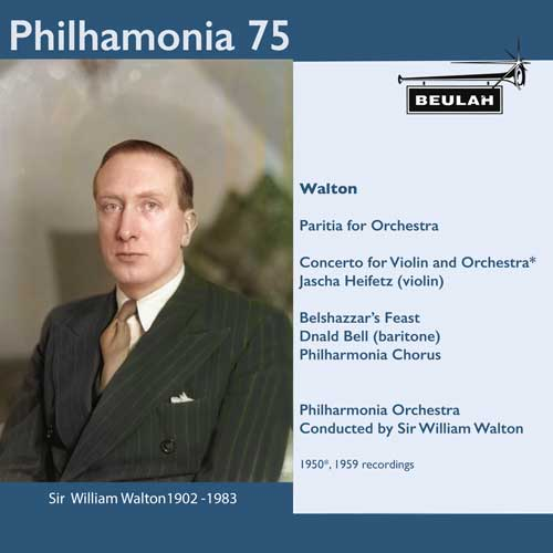 3PS58 Philharmonia 75 sir william walton viola concerto belshszzars feast partita for orchestra