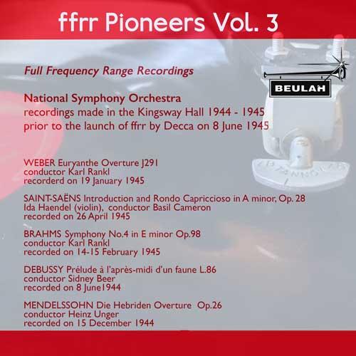 13PS59 ffrr pioneers volume 3 mendelssohn brahms debusy saint-saens weber