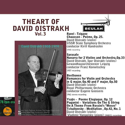 3ps6 the art of david oistrakh volume 3