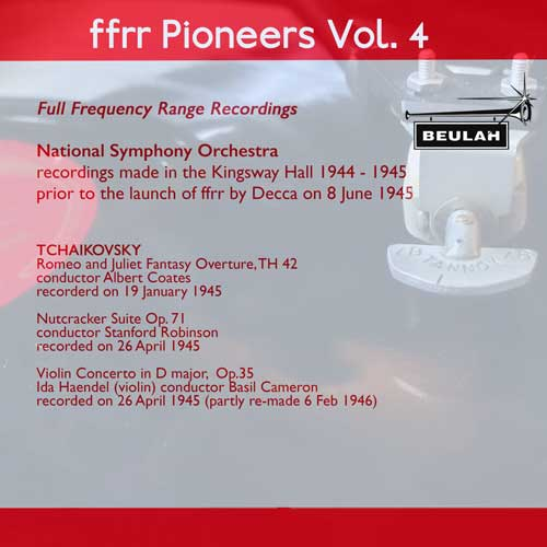 4PS59 ffrr pioneers volume 4 tchaikovsky romeo and juliet nutcracker suite violin concerto