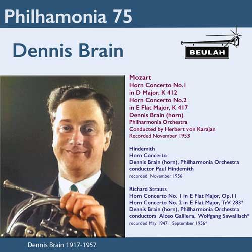5PS58 Philharmonia 75 Dennis Brain Mozart Hindemith Strauss
