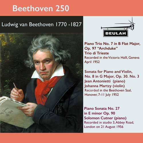 6PS57 beethoven 250 archduke piano trio  violin sonata  number 8; piano sonata number 27