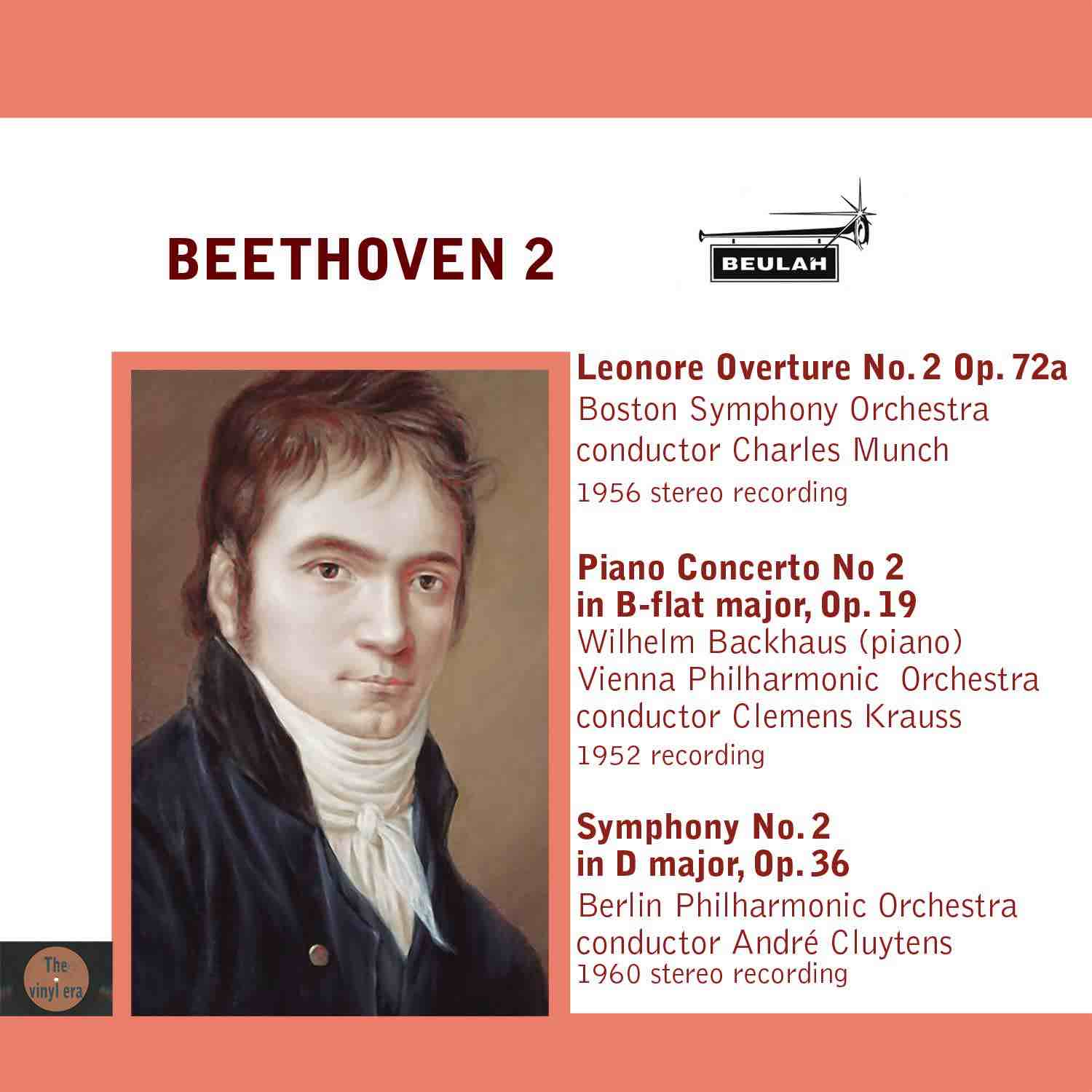 Beethoven symphony number 2 and piano concerto number 2